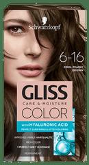 Schwarzkopf Gliss Color Care & Moisture barva za lase, 6-16 Cool Pearly Brown