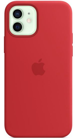 Apple iPhone 12   12 Pro Silicone Case with MagSafe - (PRODUCT)RED MHL63ZM/A