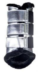 HKM Drezurní kamaše s beránkem Metallic HKM světle šedá, Velikost L