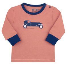 Nini fantovska majica iz organskega bombaža, 62, oranžna