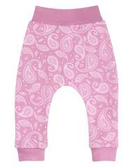 Nini dívčí tepláky z organické bavlny růžová 56