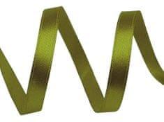 Kraftika 22.5m zelená khaki stř. atlasová stuha šíře 6mm