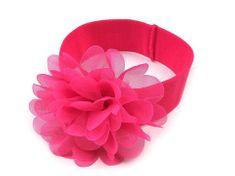 Kraftika 1ks růžová malinová dětská elastická čelenka do vlasů s