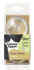 Tommee Tippee C2N lassú áramlású tartalék cumi, 0+, 2db