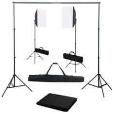 shumee Fotostudio set se softboxy a fotopozadím