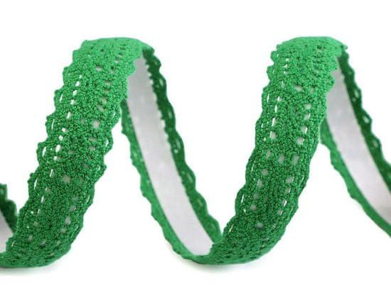 Kraftika 1ks zelená irská samolepicí krajka šíře 15mm