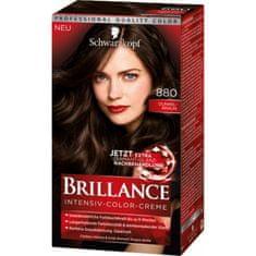 Schwarzkopf Brillance barva za lase, 880 temno rjava