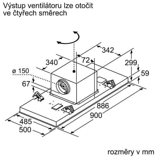Bosch stropna napa DRC97AQ50 - Odprta embalaža