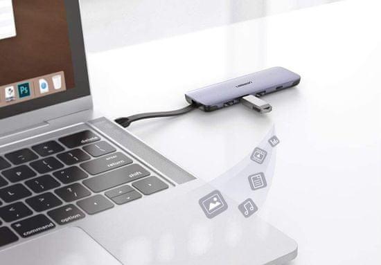 Ugreen USB-C hub, 5 vhodov