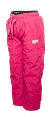 PIDILIDI Dívčí zimní kalhoty s fleecovou podšívkou 86 růžová