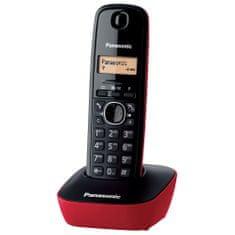 Panasonic KX TG1611 stacionarni telefon, rdeč
