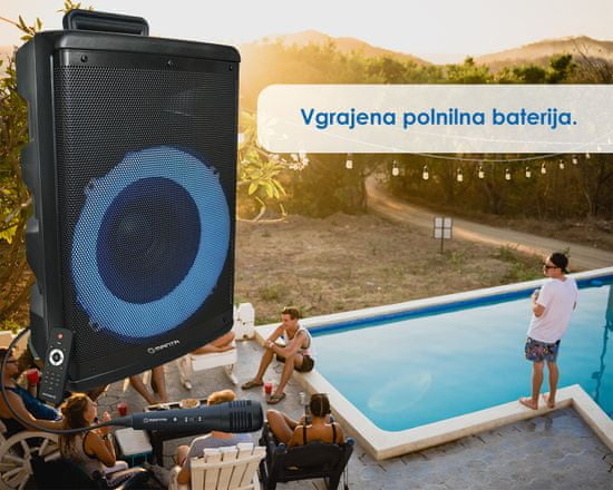 Manta SPK5030 karaoke zvočni sistem, prenosni, Bluetooth, LED lučke, TWS - Odprta embalaža