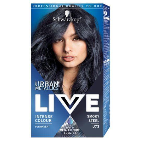 Schwarzkopf Live Urban Metallics barva za lase, U73 Smokey Steel