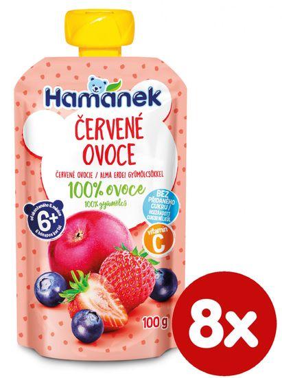 Hamánek Červené ovocie 8x 100g