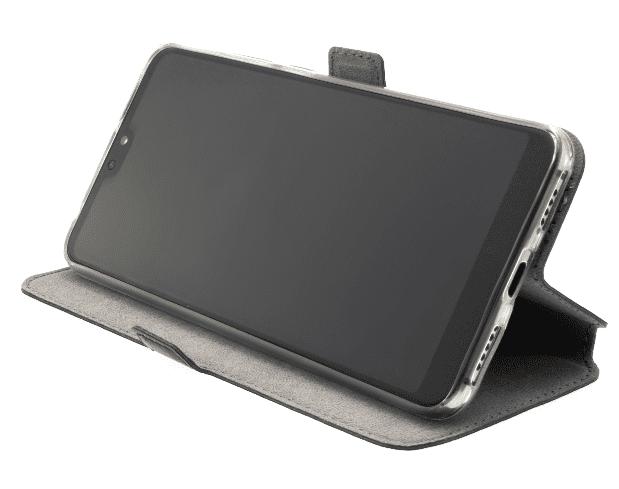 FIXED Tenké pouzdro typu kniha Topic pro Samsung Galaxy M01, černé FIXTOP-570-BK