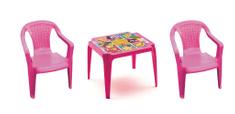 IPAE sada růžová 2 židličky + stoleček PRINCESS