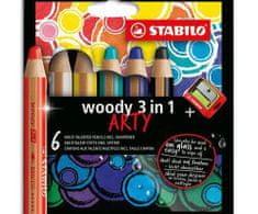 Stabilo Pastelky woody 3v1 - mix barev (6ks),