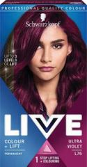 Schwarzkopf Live barva za lase, L76 Ultra Violet