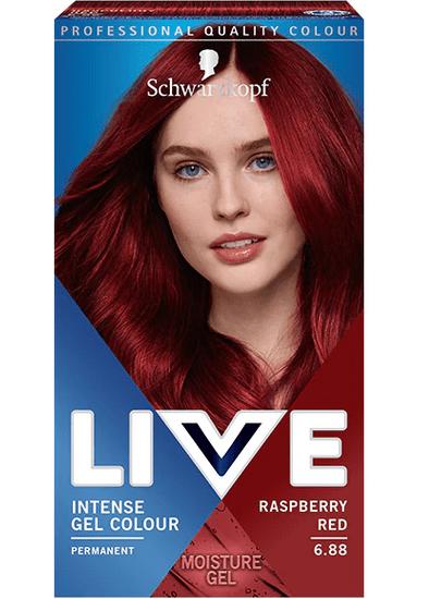 Schwarzkopf Live boja za kosu, 6.88 Raspberry Red