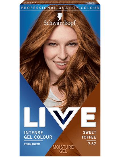 Schwarzkopf Live boja za kosu, 7.57 Sweet Toffee