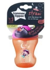 Tommee Tippee Netekoucí hrnek s brčkem Straw Cup 230ml 7m+ Pink