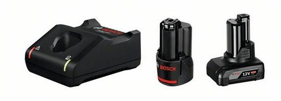 BOSCH Professional akumulatorski komplet 1x GBA 12V 2.0 Ah, 1x GBA 12V 4.0 Ah + GAL 12V-40 (1600A01NC9)