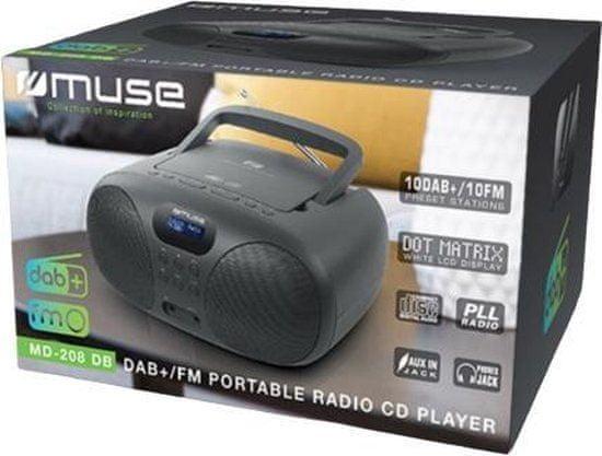 Muse MD-208 DB radio s CD predvajalnikom