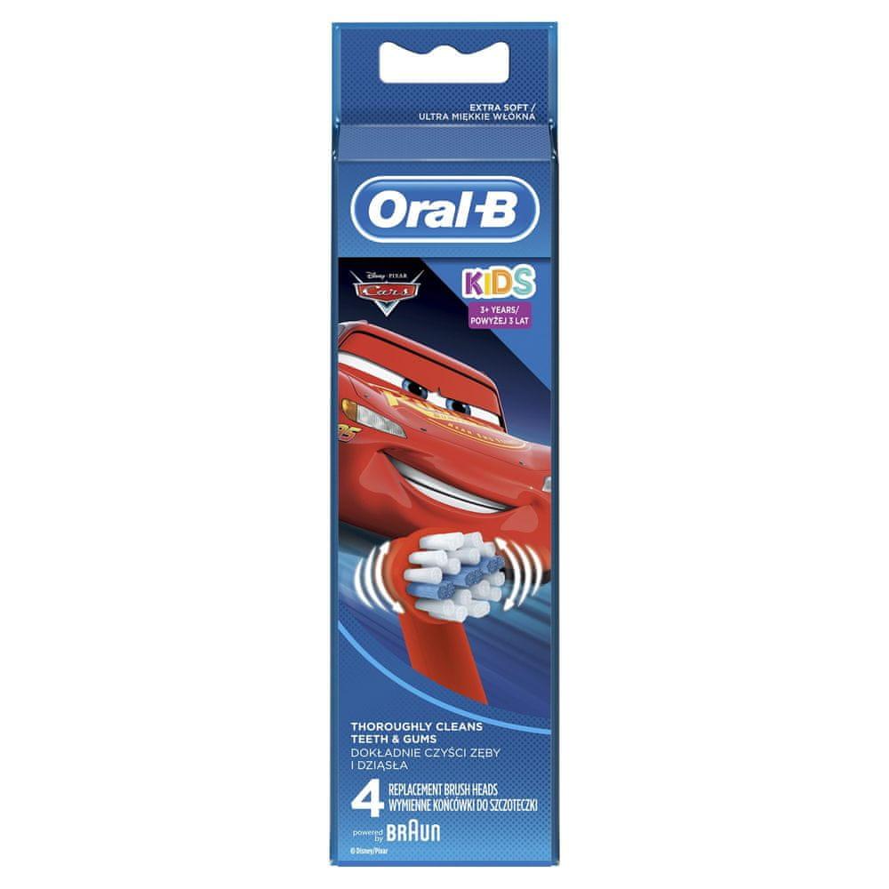 Oral-B Cars 4 ks náhradní hlavice