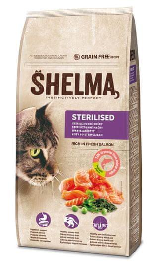 SHELMA bezobilné granule s čerstvým lososom a superpotraviny 8 kg