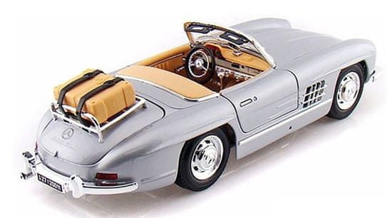 BBurago Model 1:18 Mercedes Benz 300 SL Touring (1957) srebrny