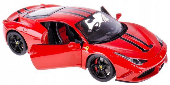 BBurago Model 1:18 Ferrari Signature series 458 Speciale czerwony