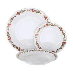 MAISON FORINE jedilni komplet s krožniki Jessy, opal steklo C, 18-delni