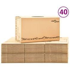shumee Kartónové krabice na stěhování XXL 40 ks 60 x 33 x 34 cm