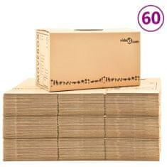Greatstore Kartónové krabice na stěhování XXL 60 ks 60 x 33 x 34 cm