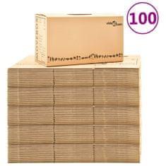 Greatstore Kartónové krabice na stěhování XXL 100 ks 60 x 33 x 34 cm