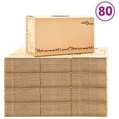 Greatstore Kartónové krabice na stěhování XXL 80 ks 60 x 33 x 34 cm