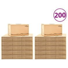 Greatstore Kartónové krabice na stěhování XXL 200 ks 60 x 33 x 34 cm
