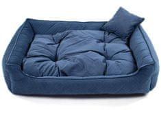 Vsepropejska Snug tmavě modrý pelech pro psa Rozměr: 90 x 75 cm