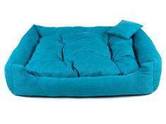 Vsepropejska Lux modrý pelech pro psa Rozměr: 90 x 75 cm