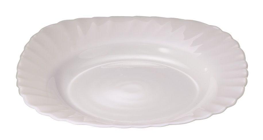 MAISON FORINE Verona set 6 ks hlubokých talířů 23 cm, opálové sklo