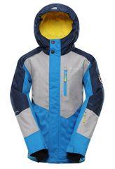 ALPINE PRO detská lyžiarska bunda Sandaro 92 - 98 modrá