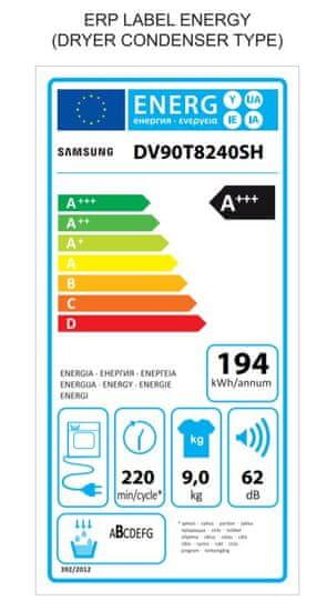 Samsung DV90T7240BH/S7 + 10 let na invertorový motor
