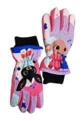 """SETINO Dekliške smučarske rokavice """"Bing"""" - roza - 7–8 let"""