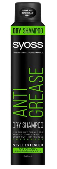 Syoss suhi šampon za lase, Anti Grease, 200 ml