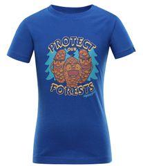 ALPINE PRO Koszulka chłopięca Ivaro 3 92 - 98 niebieska