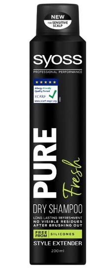 Syoss Pure suhi šampon za lase, Fresh, 200 ml