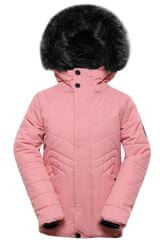 ALPINE PRO dievčenská bunda Icybo 4 116 - 122 ružová