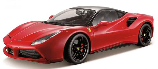 BBurago 1:18 Ferrari Signature sorozat 488 GTB piros