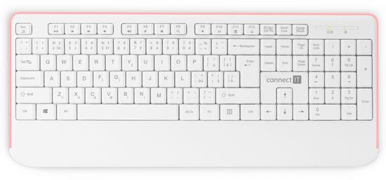 Connect IT Combo, CZ/SK, bílá/růžová (CKM-7801-CS)