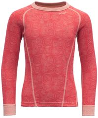 Devold dekliška majica Duo Active Kid Shirt, 116, rdeča